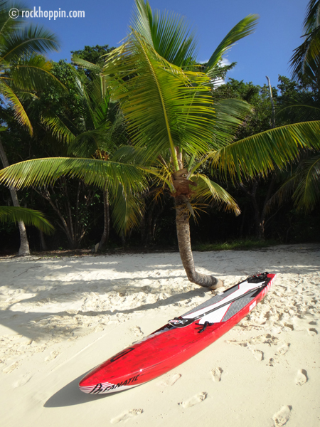 Paddleboarding (SUP) to Solomon Beach St. John