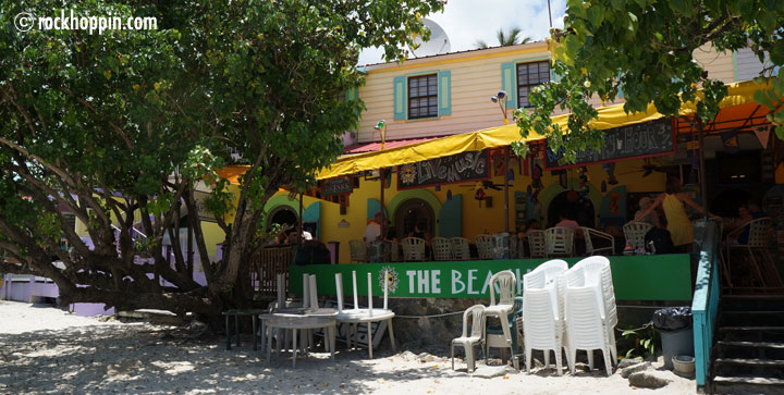 Our day trip powerboat charter starts in Cruz Bay, St. John, we meet at the Beach Bar.